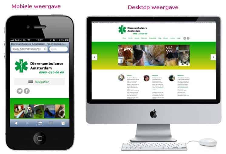 Blik op de toekomst een mobiele website buro staal for Buro website
