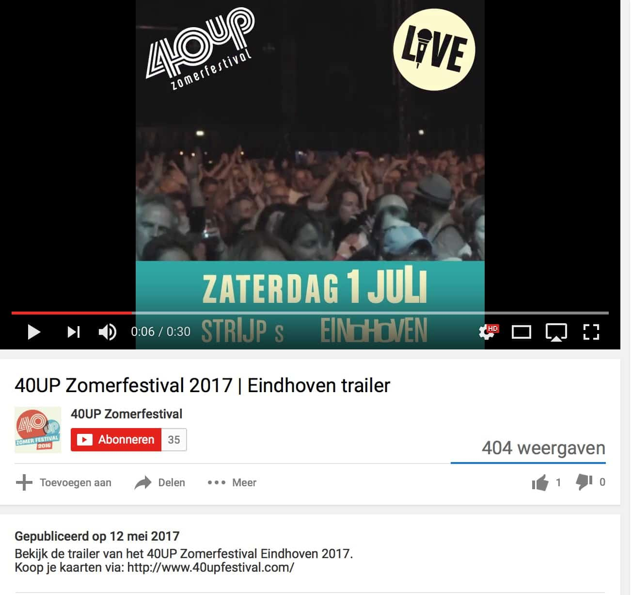 Video SEO link in je omschrijving